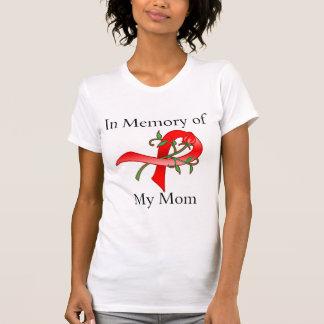 Na memória de minha mamã - doença do curso camiseta