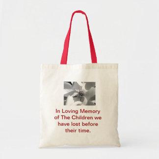 Na memória de nossas crianças colocou para descans sacola tote budget