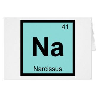 Na - Mesa periódica da química grega do narciso Cartao