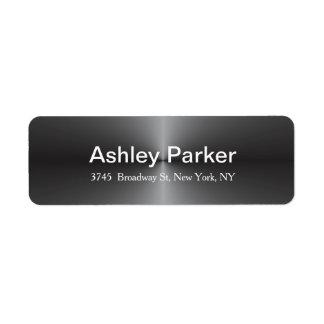 Na moda à moda elegante moderno cinzento metálico etiqueta endereço de retorno