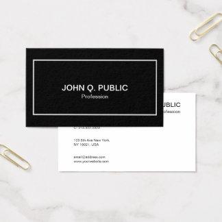 Na moda branco preto elegante profissional moderno cartão de visitas