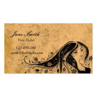Na moda do vintage do cabeleireiro do cabeleireiro cartão de visita