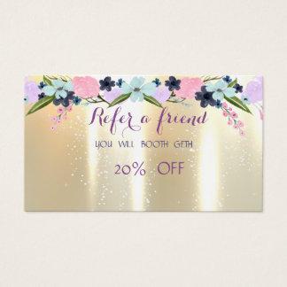 Na moda elegante, cartão da referência das flores