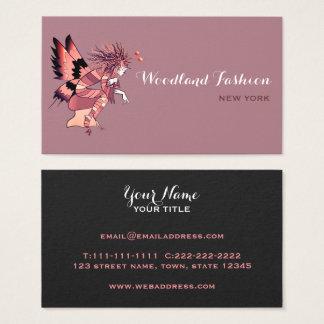 Na moda elegante da borboleta do duende chique cartão de visitas