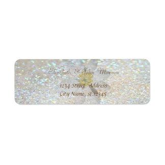 Na moda elegante, margarida Glittery, etiqueta