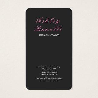 Na moda feminino clássico cor-de-rosa cinzento cartão de visitas