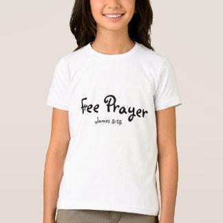Na moda livre da menina da oração camiseta