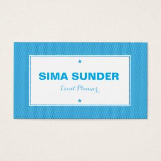 Na moda moderno azul fundo pontilhado cartão de visitas