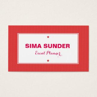 Na moda moderno vermelho fundo pontilhado cartão de visitas