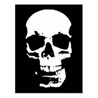 Na moda preto & branco do crânio do pop art legal cartão postal
