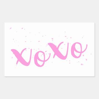Na moda xoxo-Cor-de-rosa Adesivo Retangular