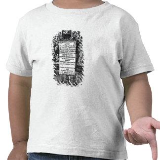 'Na origem e na história de Typography T-shirt