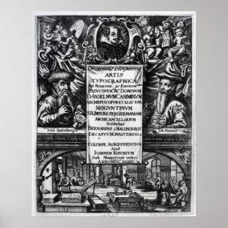 'Na origem e na história de Typography Pôster