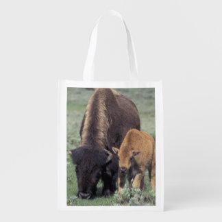 NA, parque nacional dos EUA, Wyoming, Yellowstone Sacolas Reusáveis