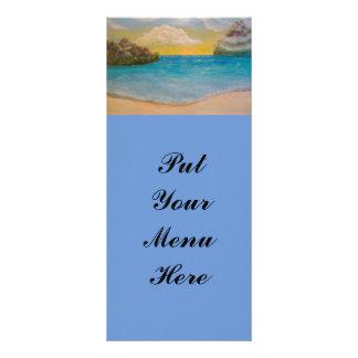 """""""Na praia"""" Rackcards 10.16 X 22.86cm Panfleto"""