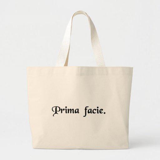 Na primeira vista bolsas para compras