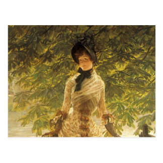 Na Tamisa por James Tissot, realismo do vintage Cartão Postal