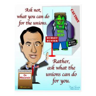 Na união nós confiamos cartão postal