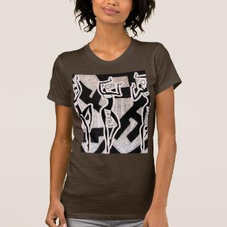 Nação africana do ritmo sob o bosque camisetas