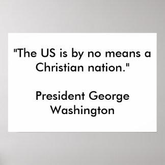 Nação cristã pôster
