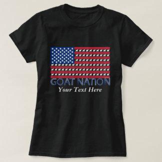 NAÇÃO da CABRA a cabra americana GetYerGoat™ Camiseta