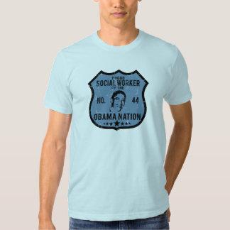 Nação de Obama do assistente social Tshirt