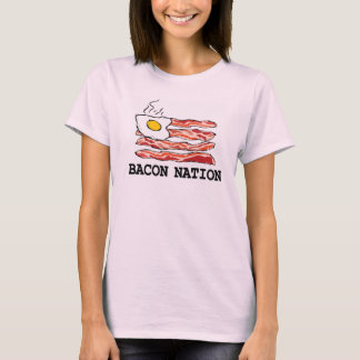 Nação do bacon camiseta