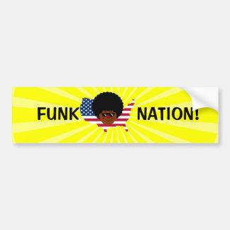 Nação do funk: Os Estados Unidos do funk Adesivo Para Carro