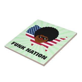 Nação do funk: Os Estados Unidos do funk Azulejo Quadrado Pequeno