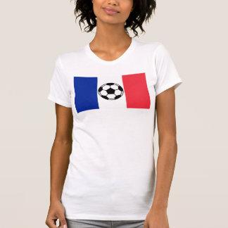 Nação do futebol de France Camiseta