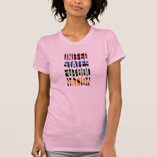 Nação do futebol dos Estados Unidos T-shirt