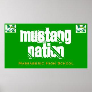 Nação do mustang pôster