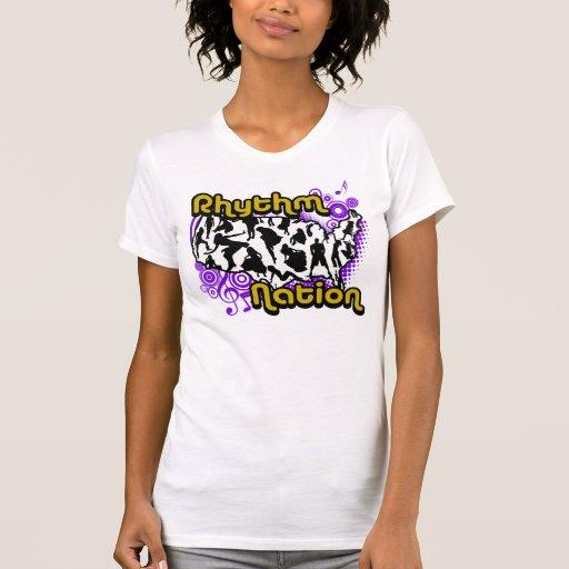 Nação do ritmo tshirts