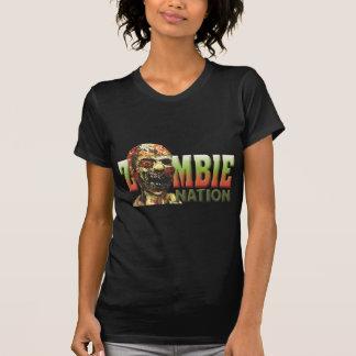 Nação do zombi t-shirt