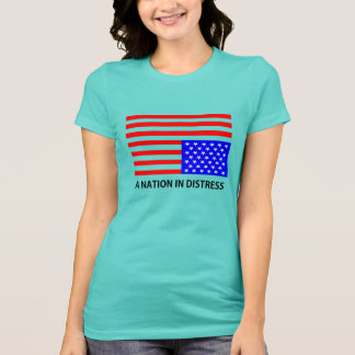 Nação no t-shirt da aflição camiseta