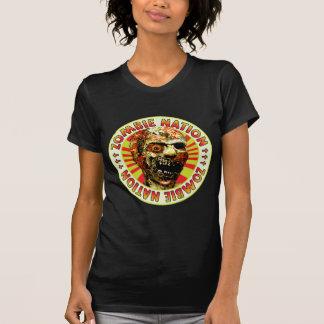 Nação v2 do zombi tshirts