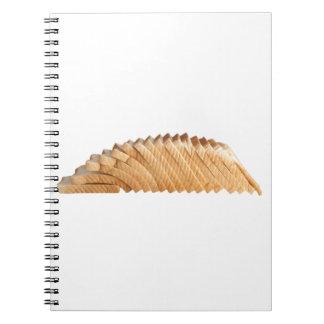 Naco do pão cortado caderno espiral