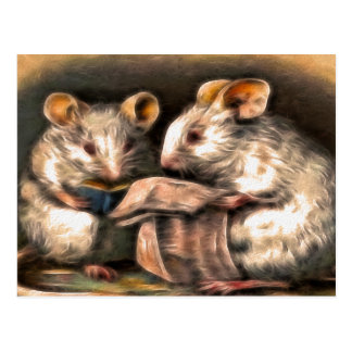 """""""Nada cartão dos ratos na tevê hoje à noite"""""""