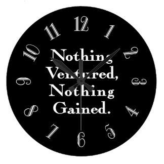 Nada não arriscou nada ganhado relógio grande