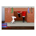 Nada termina um Natal de bull terrier Cartão
