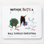 Nada termina um Natal de bull terrier Mousepads