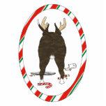 Nada termina uns enfeites de natal de bull terrier escultura de foto