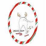 Nada termina uns enfeites de natal de bull terrier fotoesculturas