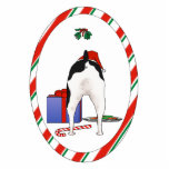 Nada termina uns enfeites de natal de Terrier de r Foto Esculturas