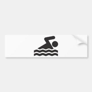 Nadador Adesivo Para Carro