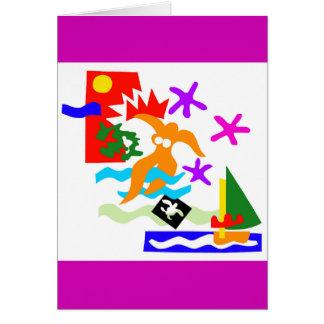 Nadador do verão - cartão