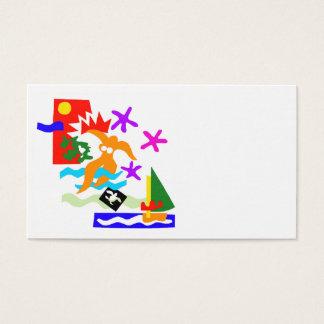 Nadador do verão - cartão de visita