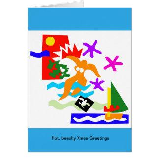 Nadador do verão - cartões australianos do Xmas