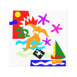 Nadador do verão - impressão das canvas