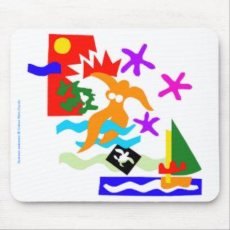 Nadador do verão - Mousepad